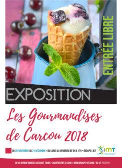 """Affiche de l'exposition de photographie """"Les Gourmandises de Carcou"""""""