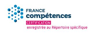 Logo France Compétences Certification enregistrée au Répertoire spécifique