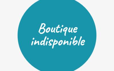 Boutique indisponible