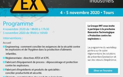 Rencontres Technologiques - Protection contre les explosions de poussières dans les procédés industriels